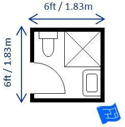 small half bathroom dimensions floor plan plans