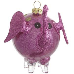 pink glitter elephant christmas ornaments pinterest