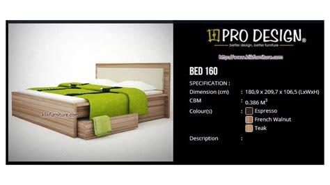 Ranjang Ukuran 160 ranjang kayu pro design bed 160 l batavia
