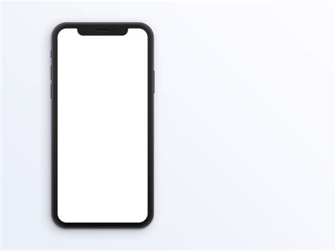 Space Gray Iphone X Clay Mockup The Mockup Club Iphone X Mockup Template