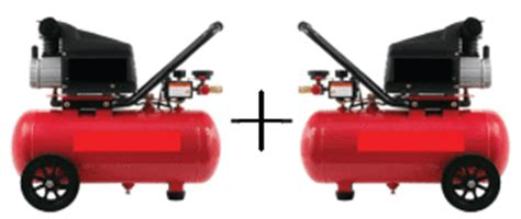 connecting two air compressors