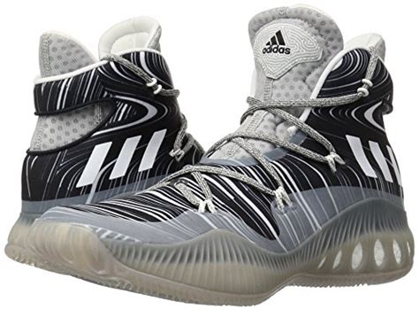 adidas performance s explosive basketball shoe mgh solid grey white black 1 9 m us