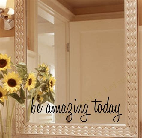 mirror mirror on the wall sticker free shipping inspirational mirror decal motivational