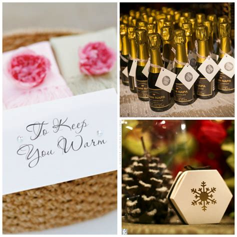 Winter Wedding Favors by 13 Winter Wedding Favors Your Guests Will Actually Want