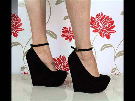 diy heel straps detachable ankle wedge shoes