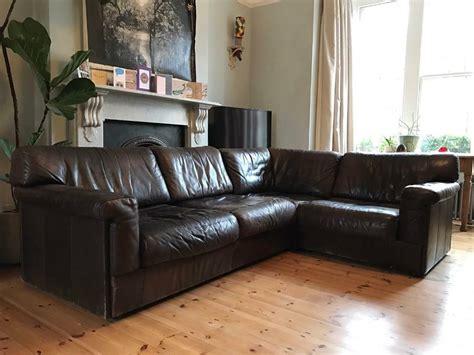 70s Sofa by Mondileder Vintage 70s Leather Modular Corner Sofa