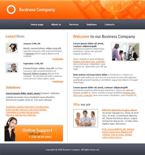 good templates for website good decision website template 3160 business website
