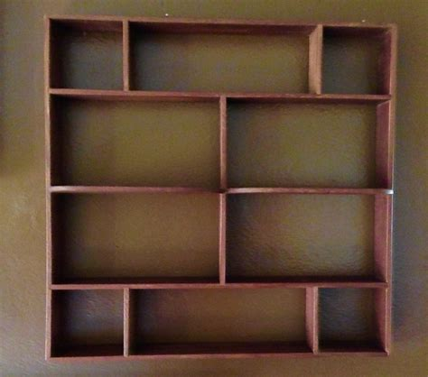 Knick Knack Display Shelf vintage mid century modern wood knick knack wall display