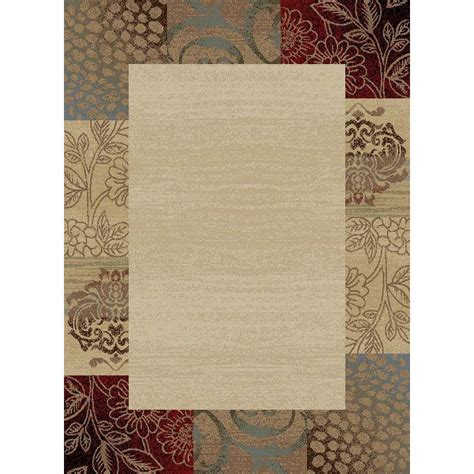 home depot rugs tayse rugs deco ivory 7 ft 10 in transitional area rug dco1001 8rnd the home depot