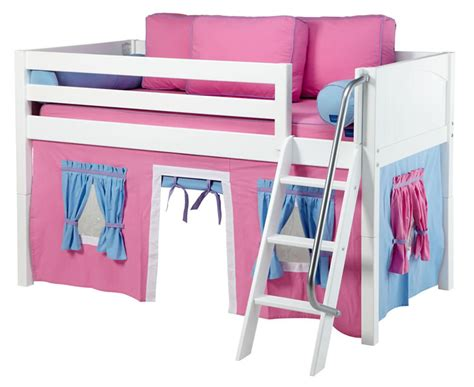 maxtrix pink and blue tent bed in white panel bed ends 300 1