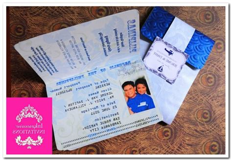 passport wedding invitations template free
