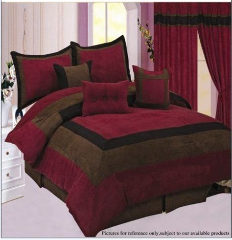 Burgundy Comforter Set With Matching Curtains Tans White Burgundy And Window On