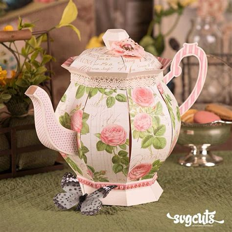 How To Make A Paper Teapot - 16 best images about paper crafts teapot on
