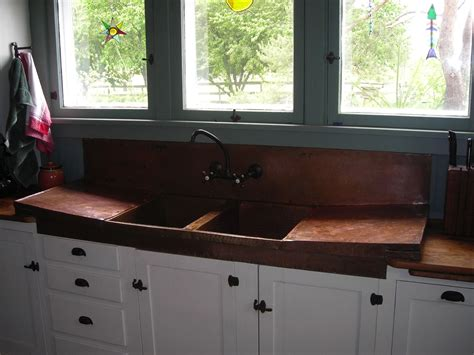 custom copper sink kitchen sink by iron logan