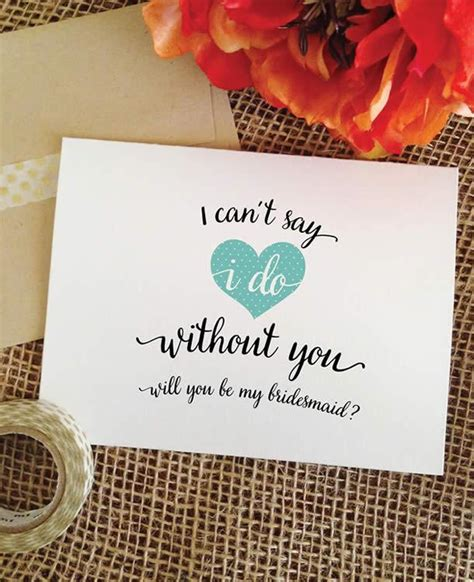 Wedding Congratulations Bridesmaid by I Can T Say I Do Without You Asking Bridesmaid Cards