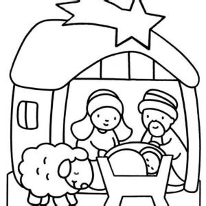 cute nativity coloring pages nativity of jesus and star of bethlehem coloring page