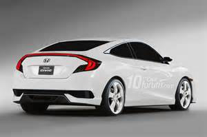 2016 honda civic coupe hatchback and sedan rendered