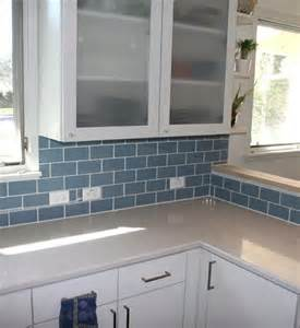 blue subway tile backsplash 17 best images about kitchen ideas on