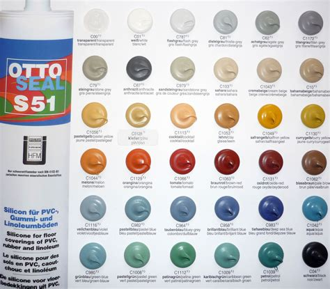 caulk colors otto chemie ottoseal s51 silicone sealant colours
