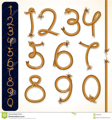 How To Make A Number 4 Knot - rope numbers stock vector image of rope brown