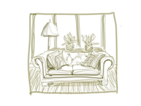 sofa drawing drawings ipad and sofas on pinterest