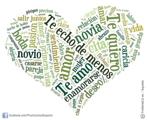 palabra pattern en espanol nube de palabras del amor vocabulario pinterest amor