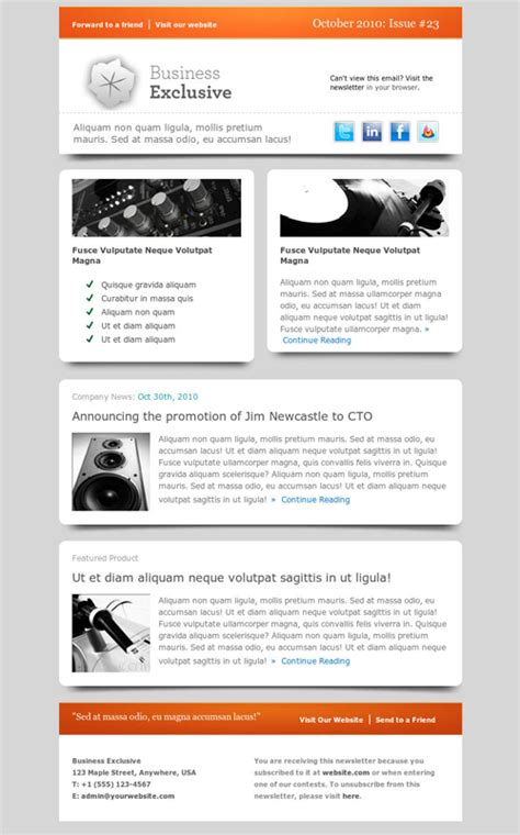 newsletter templates for email ecommerce email marketing 1 digital 174 agency