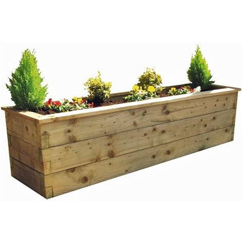 zest  leisure  deep wooden sleeper raised bed planter