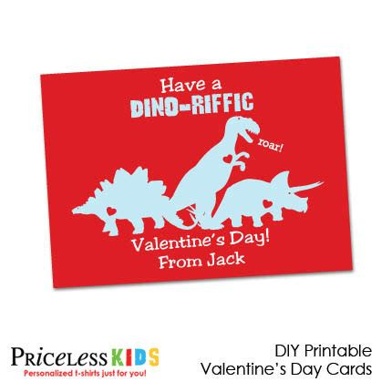8 best images of printable dinosaur s day cards