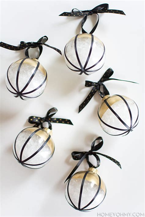 black gold christmas ornaments diy black white and gold ornaments homey oh my