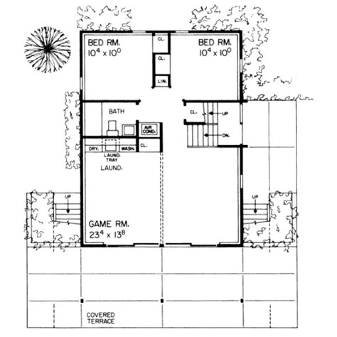 350 sq ft modern style house plan 4 beds 2 baths 1536 sq ft plan