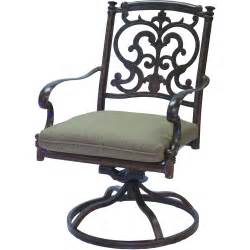 darlee santa barbara cast aluminum patio swivel rocker