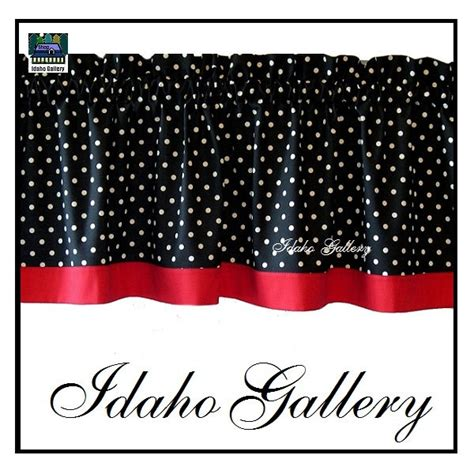 red polka dot kitchen curtains polka dot black white red kitchen curtain or bedroom valance