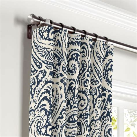 Blue Paisley Curtains White Navy Blue Paisley Curtain Ring Top Front Curtains Drapes Tops Curtains
