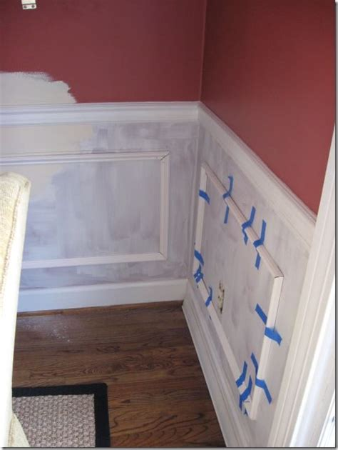 Dining Room Picture Frame Molding by How To Install Picture Frame Molding Faux Wainscoting