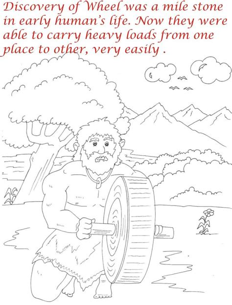 early humans coloring page early humans printable coloring pages for kids