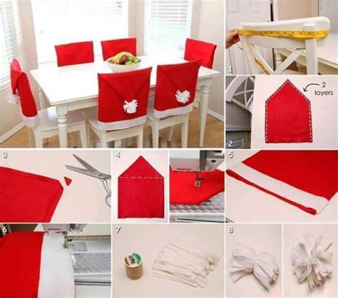 easy chair cover ideas diy santa hat chair covers find projects to do