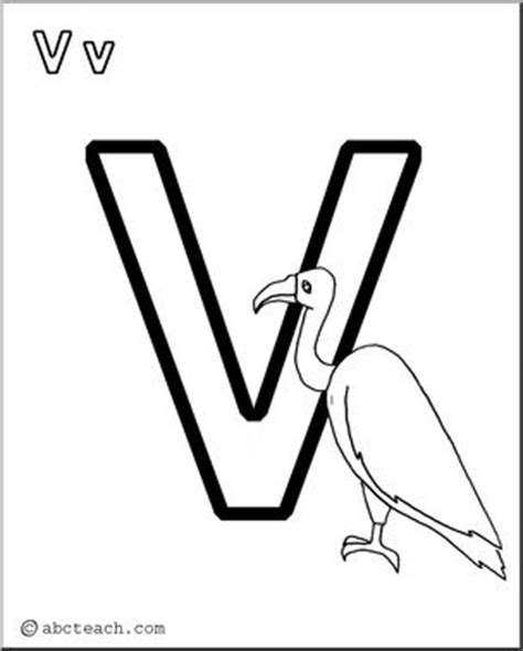 abcteach coloring pages coloring page alphabet v abcteach