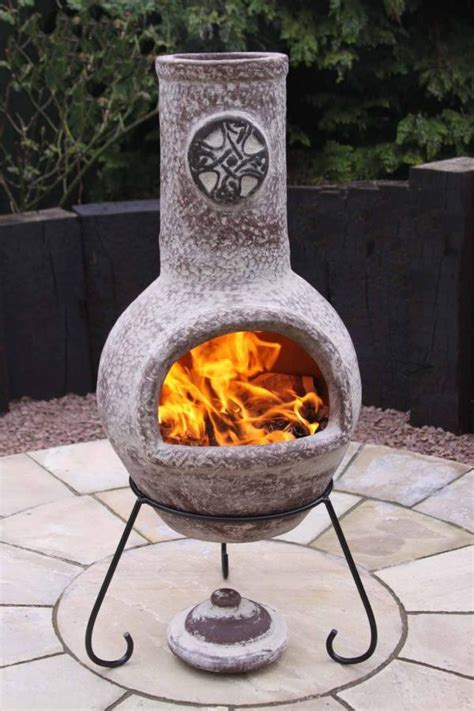 Large Clay Chimenea Large Celtic Style Clay Chimenea Savvysurf Co Uk