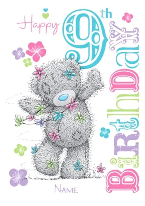 card me to you daisy chain 9th birthday card funky