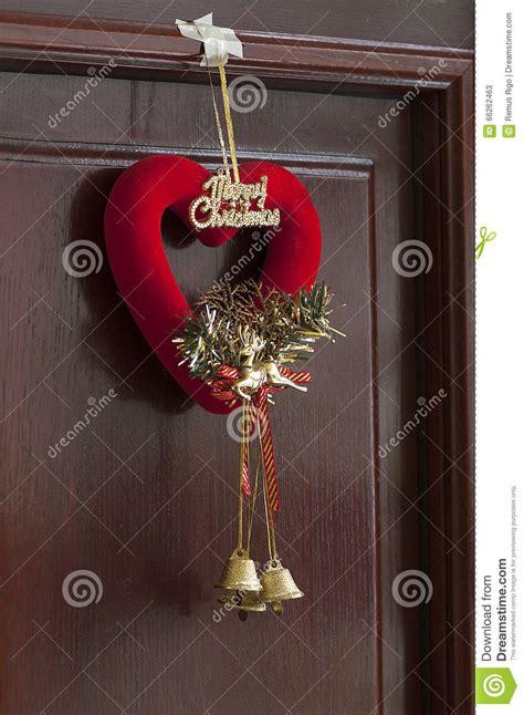 decorazione porta natale decorazione della porta di natale immagine stock