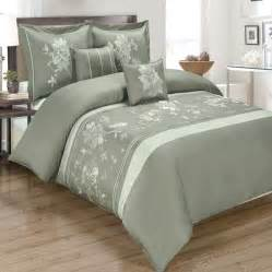 100 Cotton Duvet Covers R T Duvet Cover Set Embroidered 100 Cotton Myra Gray