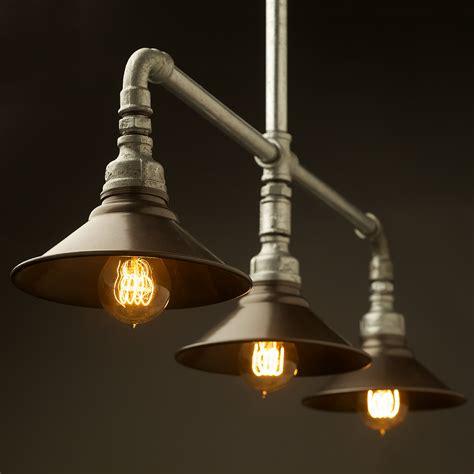 Galvanised Plumbing Pipe Table Light Industrial Style Lighting Fixtures