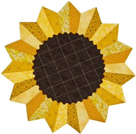 Sunflower Quilt Block Pattern by Phillips Fiber The Quilting Products