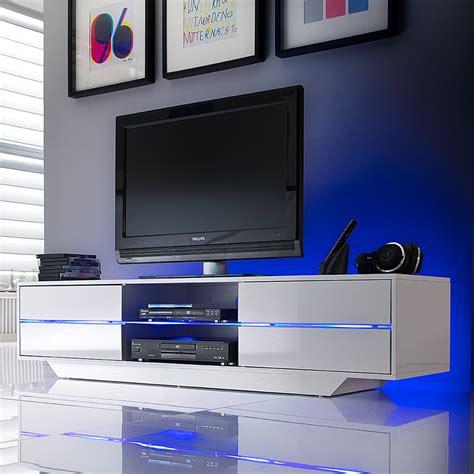 tv lowboard beleuchtung weiss hochglanz tv hifi rack