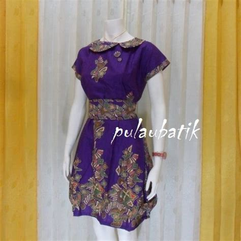 Dress Batik Cantik Db97 Ungu 52 best images about model dress batik modern terbaru