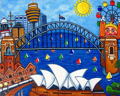 design art australia online sensational sydney painting by lisa lorenz