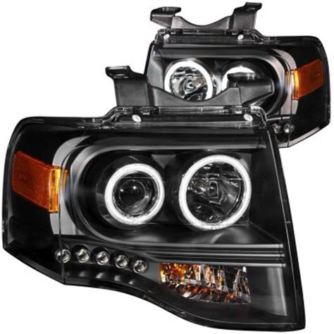 ford expedition 2007 2012 projector headlights black ccfl