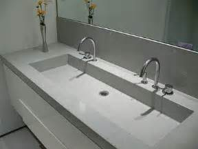 one bathroom sink counter trough sink cement and sinks on