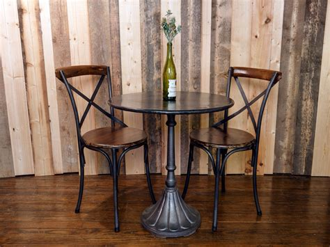 Small Indoor Bistro Table Set Wooden Bistro Table Set For Dining Room The New Way Home Decor
